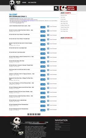 Скрипт поисковой системы Mp3 файлов / Unique Mp3