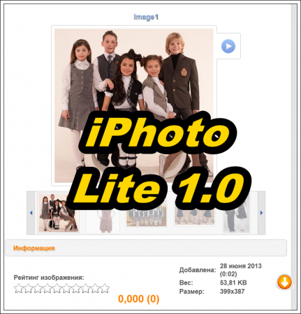 iPhoto Lite 1.0 [DLE 9.x - 10.x]