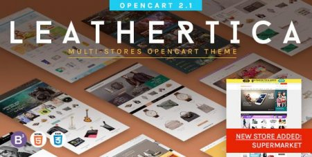 Leather - Premium OpenCart Themes Package